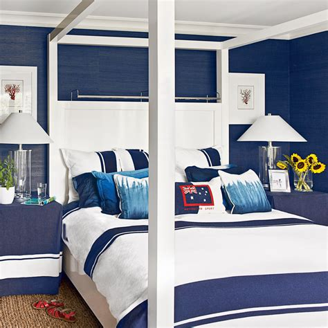 bedroom navy navy and white bedroom ideas for blue bedrooms coastal Coastal