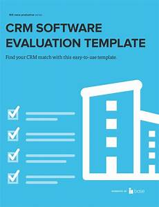 How to evaluate crm software free crm requirements template for Crm requirements template