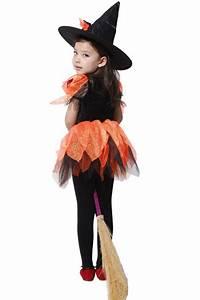 Halloween Witch Costumes Children Sorceress Cosplay Kids
