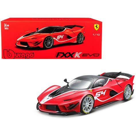 Ferrari tells us this fxx k evo will be available in a limited run (no number is given but expect only a handful), or as an upgrade pack for fxx k owners. Bburago 1:18 Ferrari Signature FXX - K EVO - 54 Red