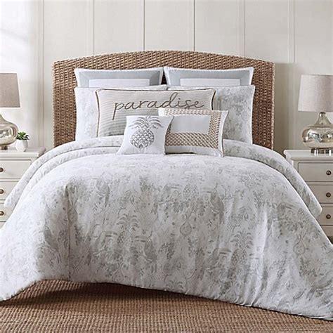 Tropical Plantation Toile Comforter Set  Bed Bath & Beyond