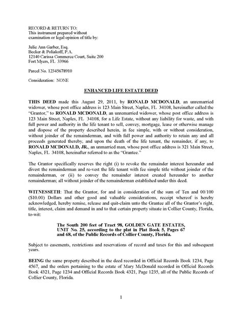20020 records release form enhanced estate deeds definition and
