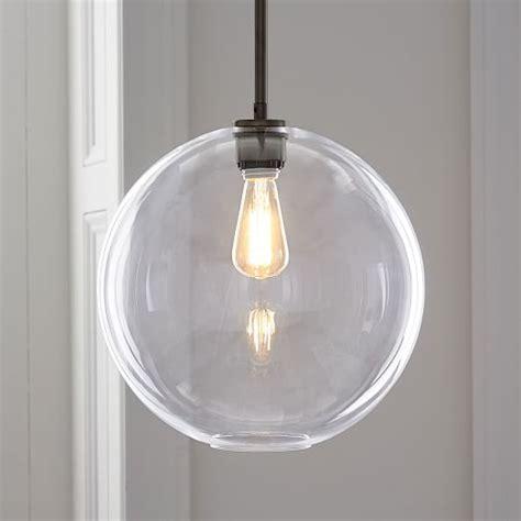 glass globe pendant light sculptural glass globe pendant large west elm