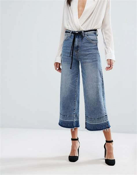 Frayed Wide Leg current air frayed wide leg crop with released hem
