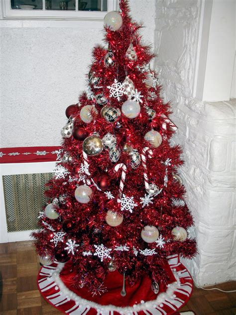 red christmas tree decorations ideas christmas