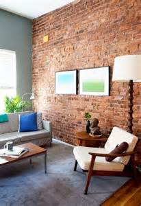 Living Room Wall Decor Ikea by 59 Cool Living Rooms With Brick Walls Digsdigs