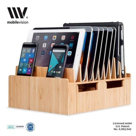 l with charging station mobilevision bamboo 10 port charging station docking