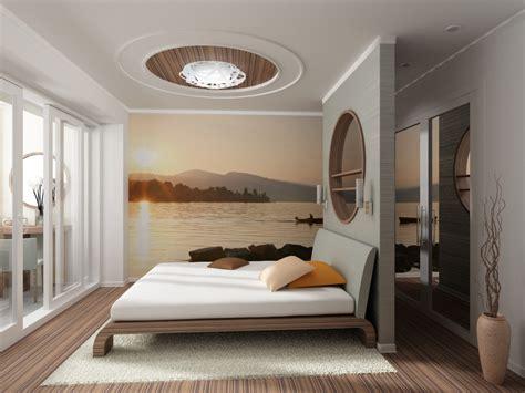дизайн интерьера спальни с фотообоями на houser su
