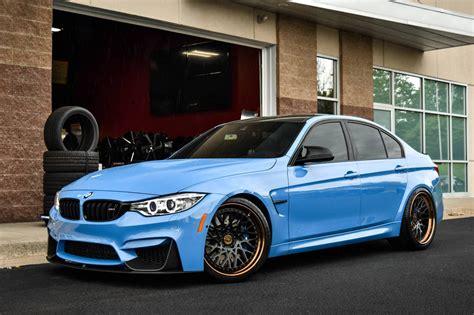 bmw m3 f30 sky blue bmw m3 f30 on avant garde sport wheels carid