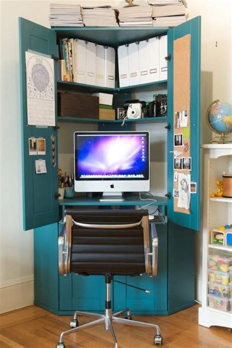 furniture pretty computer armoire for home office furniture ideas throughout small computer armoire 20 hideaway desk ideas to save your space shelterness