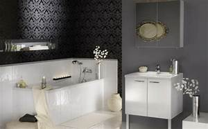 Tapete Im Bad : 33 dunkle badezimmer design ideen ~ Frokenaadalensverden.com Haus und Dekorationen