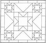 Pattern Quilt Coloring Pages Patterns Geometric Blocks Barn Block Quilting Quilts Shape 2d Print Printable Mandala Crazy Colouring Designs Star sketch template