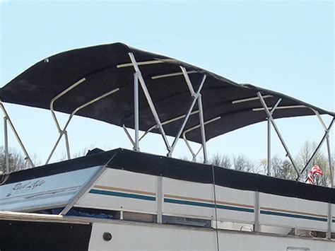 Pontoon Boat Bimini Top With Frame by 15ft House Boat Bimini Top With Frame