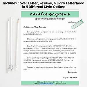 slp teacher resume and cover letter templates fully With editable teacher resume template