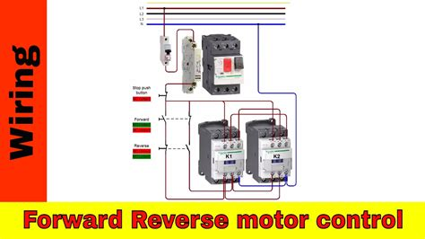 how to wire forward motor and power circuit