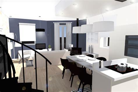 amenagement cuisine salle a manger salon impressionnant amenagement salon cuisine luxe design à