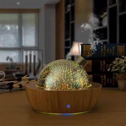Diffuser Bamboo Glass Ultrasonic Fireworks Aroma Oil