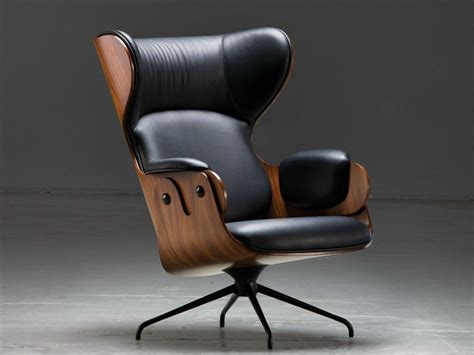 Boju adjustable wing back armchair. UPHOLSTERED HIGH-BACK LEATHER ARMCHAIR LOUNGER   LEATHER ...