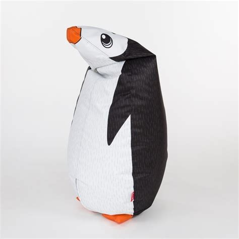 woouf penguin bean bag w polyester removable cover buy