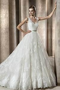 v neckline lace ball gown wedding dresscherry marry With v neck ball gown wedding dress