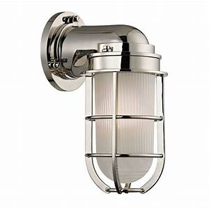 hudson valley lighting 240 pn polished nickel carson 1 With nautical wall sconce