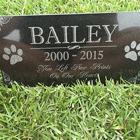 you left paw prints on our hearts pet memorial stones