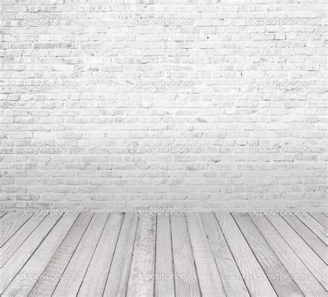 white brick floor interior room with white brick wall and wooden floor stock image 20065571 design