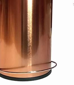 Accessoire Salle De Bain Cuivre : poubelle de salle de bain p dale m tal cuivre 5l ~ Melissatoandfro.com Idées de Décoration