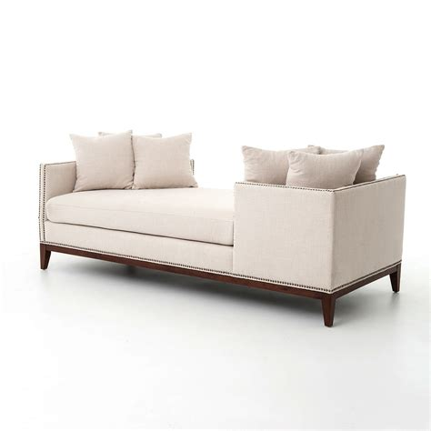 chaise beige kensington beige linen upholstered chaise daybed
