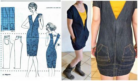 upside  jeans dress pattern