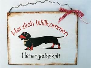 Hunde Sachen Kaufen : aufkleber schilder t rschild hund dackel ein designerst ck von un art tick bei dawanda ~ Watch28wear.com Haus und Dekorationen