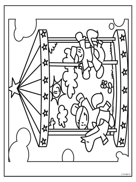Kleurplaat Draaimolen by Kleurplaat Draaimolen Op De Kermis Kleurplaten Nl