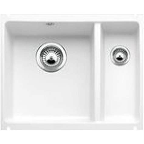 Blanco Subline 350/150 U Ceramic Undermount SInk Crystal White