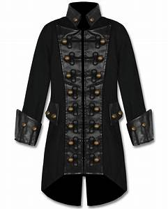 Raven Sdl Mens Black Copper Button Steampunk Gothic ...