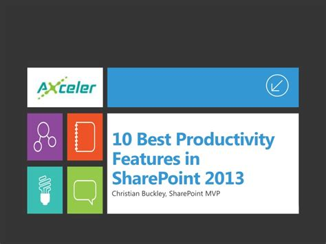 10 Best Productivity Features In Sharepoint 2013