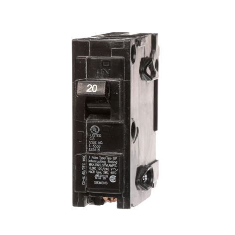 gfci circuit breaker square d homeline 20 amp single pole gfci circuit breaker hom120gficp the home depot