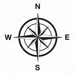 Kompass Silhouette in schwarz — Stockvektor © davesdisco1 ...