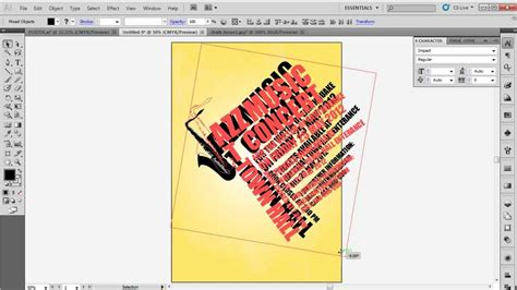 how to design a typographic poster in adobe illustrator cs5 youtube