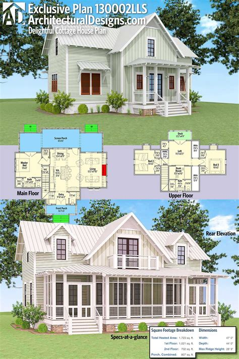 Architectural Designs Exclusive Delightful Cottage House