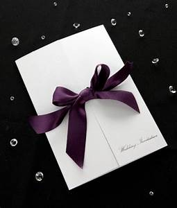 creative wedding invitations diy ideas With diy wedding invitations satin ribbon