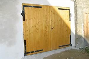 Fabrication porte bois myqtocom for Porte de garage coulissante jumelé avec porte blindée bois