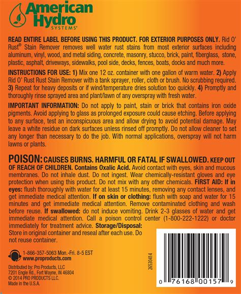 rust rid remover stain powdered irrigation faqs applications numbers support pro