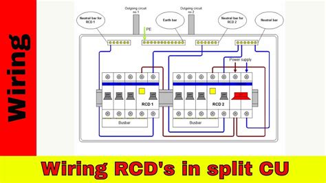 How Wire Split Consumer Unit Rcd Wiring Youtube