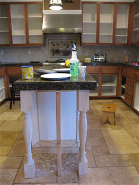 how to add legs to your kitchen island