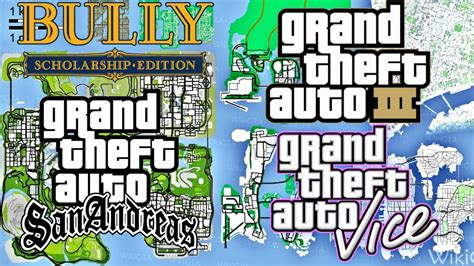 All Grand Theft Auto Maps Combined In Gta Sa