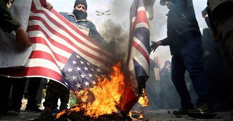 iran america soleimani general qassem burning flag war death killing