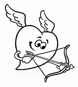 Cupid Heart Coloring Pages For Kids