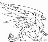 Griffin Coloring Pages Griffon Printable Gryphon Drawing Sheets Adult Colouring Drawings Animals sketch template