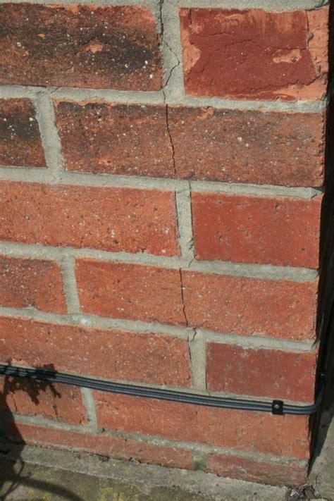 vertical cracks  external brick wall diynot forums