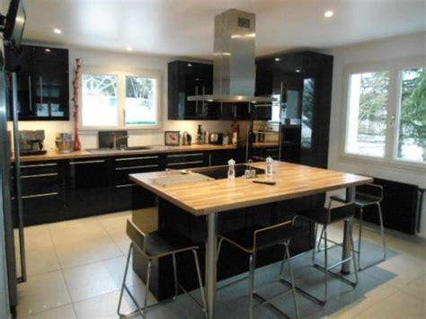 cuisine moderne avec ilot central cuisine moderne avec ilot central 15 ilot central noir
